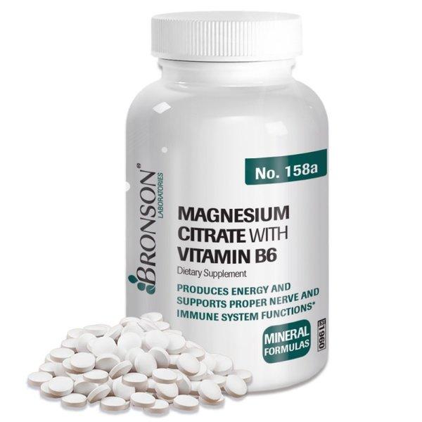Магнезий цитрат с вит В-6-100 таблетки